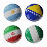 Football WorldCup 2014. Group F. Football/soccer balls.