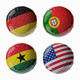 Football WorldCup 2014. Group G. Football/soccer balls.