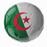 Soccer ball. Flag of Algeria