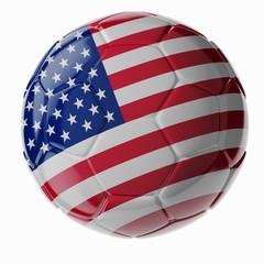 Soccer ball. Flag of United States