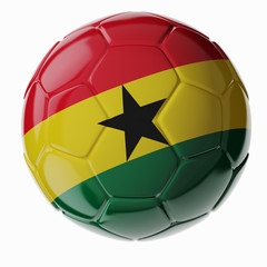 Soccer ball. Flag of Ghana