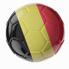 Soccer ball. Flag of Belgium