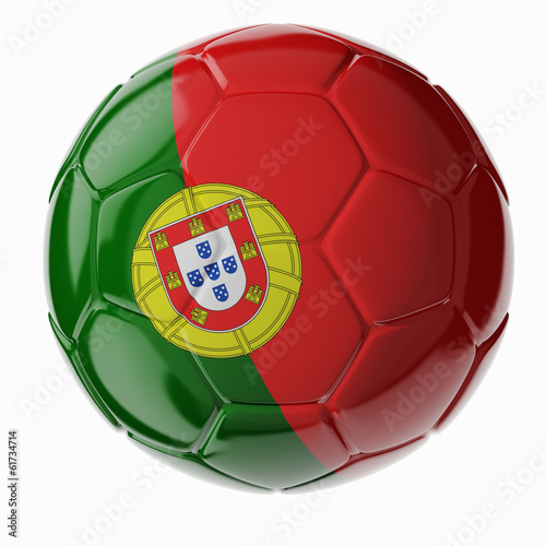 Soccer ball. Flag of Portugal