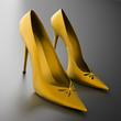 Women's heels yellow on black