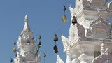 Wind chime of Thai traditional temple,Chiangmai Thailand. poster