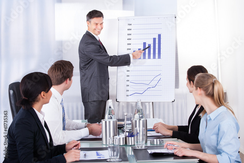Businessman Explaining Graph
