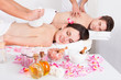 Man And Woman Getting Massage