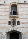 Facade of a basilica of the Lady day in Nazareth, Israel