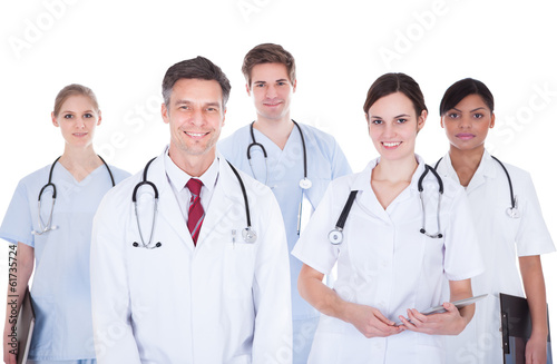 Doctors And Nurses With Stethoscope