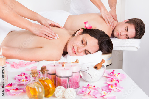 Couple In Spa Salon