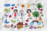 Children's drawings idea design