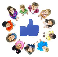 Social Media Kids in Circle