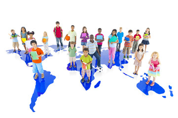 Large Group of World Children