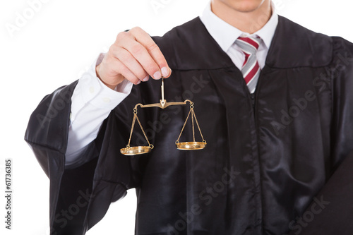 Judge With Scales And Book