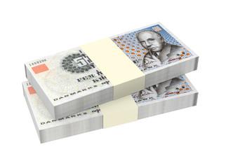 Danish krone isolated on white background.