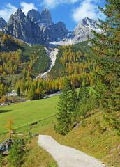 Blick auf die Bischofsmütze im Salzburger Land bei Filzmoos