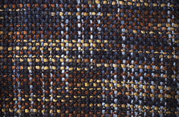 cut texture of manually woven textile fabric