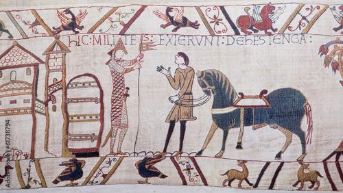 Leinwandbild Motiv Bayeux tapestry - Norman invasion of England