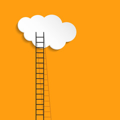 Ladder to cloud - business success concept