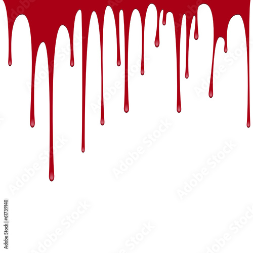 vector red paint or blood pouring background