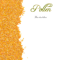 Bee pollen grains with copy space