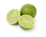 fresh lime with slices