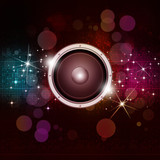 Multicolor Sound Speakek Music Background