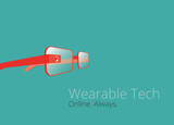 Wearable tech glasses vector design