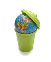 poubelle et planète