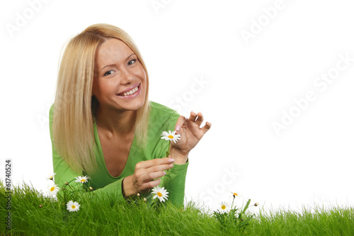 Woman on grass