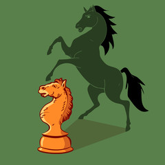 Chess game for horse