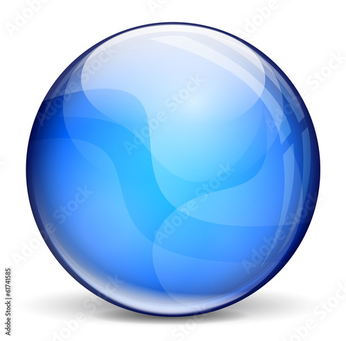 Dark blue bubble