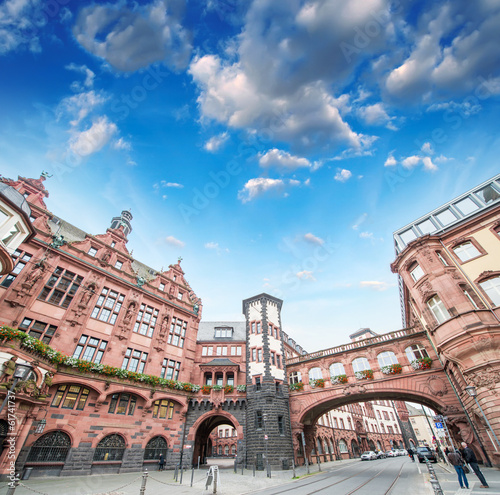 Frankfurt, Germany. Beautiful medieval buildings of old town