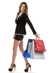 Giovane e bella ragazza fà shopping