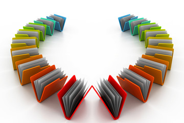 colourful folders