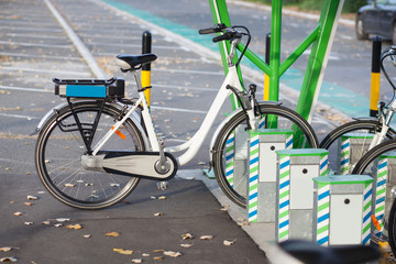 electric bicycle parked