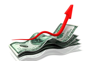 Rising money charts