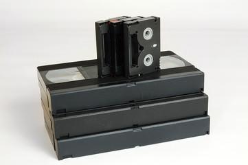 vhs and dv cassette