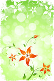 Grungy Flower Background