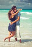 Couple on a beach Couple on a beach