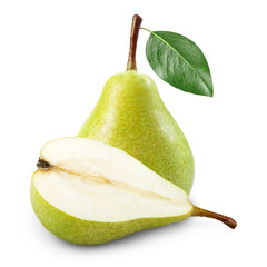 Pear with half