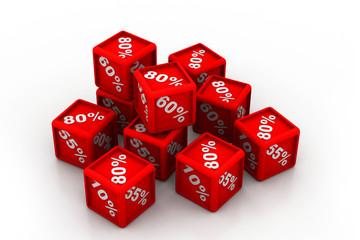 percentage cubes
