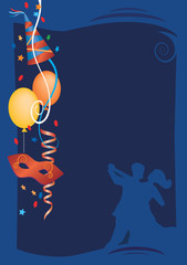 Carnival Party blue Background