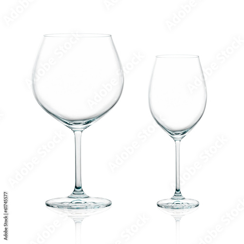 Two Elegant Cups of wine Isolated