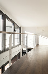 beautiful interior of a new apartment, view from passage