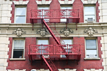 Harlem extensive fire escapes