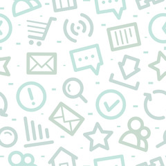 Internet icons pattern