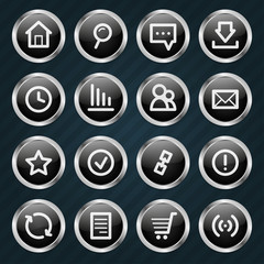 Internet Icons metal style