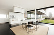 Beautiful interior of a modern villa, domestic kitchen