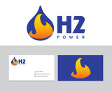 Hydrogen logo poster